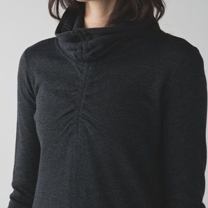 Lululemon Grey Cowl Neck Hoodie/Sweater